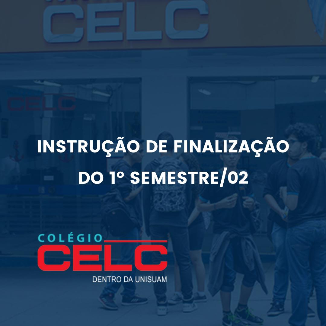 INSTRUÇÃO DE FINALIZAÇÃO DO 1º SEMESTRE/02
